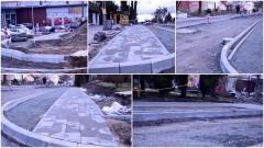 Sztum: Widać już nowe fragmenty chodników! Przebudowa skrzyżowania z ul. Mickiewicza – 21.03.2017