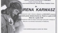 Zmarła Irena Karwasz. Żyła 81 lat.