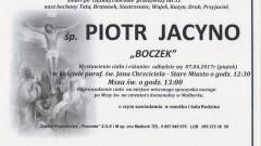 """Zmarł Piotr Jacyno """"Boczek"""". Żył 31 lat."""