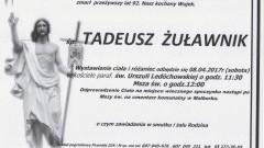 Zmarł Tadeusz Żuławnik. Żył 92 lata.