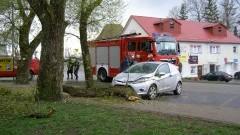 Sztum: Drzewo spadło na forda! O krok od tragedii... – 11.04.2017
