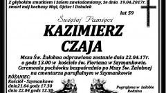 Zmarł Kazimierz Czaja. Żył 59 lat.