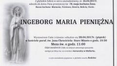 Zmarła Ingeborg Maria Pieniężna. Żyła 78 lat.