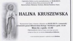 Zmarła Halina Kruszewska. Żyła 83 lata.
