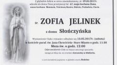 Zmarła Zofia Jelinek. Żyła 67 lat.