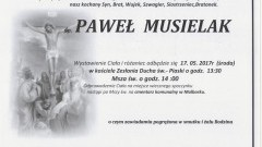 Zmarł Paweł Musielak. Żył 28 lat.