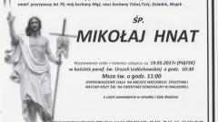 Zmarł Mikołaj Hnat. Żył 78 lat.