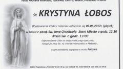 Zmarła Krystyna Łobos. Żyła 92 lata.