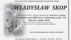 Zmarł Władysław Skop. Żył 92 lata.