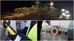 Weekendowy raport sztumskich służb mundurowych. Kolizja z drzewem, pożary nieużytków i opon oraz dwaj pijani kierowcy – 12.06.2017