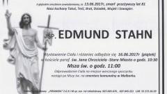 Zmarł Edmund Stahn. Żył 81 lat.