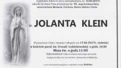Zmarła Jolanta Klein. Żyła 55 lat.