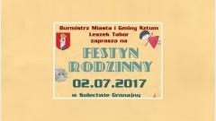Gmina Sztum. Zapraszamy na Festyn Rodzinny w Sołectwie Gronajny - 02.07.2017