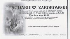 Zmarł Dariusz Zaborowski. Żył 52 lat