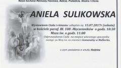 Zmarła Aniela Sulikowska. Żyła 83 lata.