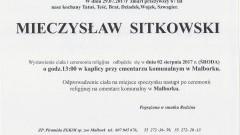 Zmarł Stanisław Sitkowski. Żył 67 lat.