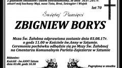 Zmarł Zbigniew Borys. Żył 70 lat.