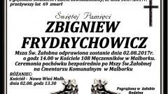 Zmarł Zbigniew Frydrychowicz. Żył 69 lat.