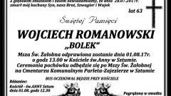 Zmarł Wojciech Romanowski. Żył 63 lata.