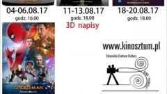 """Sztum : Sierpniowy repertuar kina """"Powiśle"""" 04-27.08.2017"""
