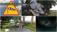 Powiat sztumski: Wiele zniszczeń po ulewnej nawałnicy. Zerwany dach w Jasnej i odcięty dopływ prądu do zakładu w Czerninie... - 01/02.08.2017