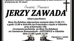 Zmarł Jerzy Zawada. Żył 82 lat.