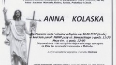 Zmarła Anna Kolaska. Żyła 90 lat.