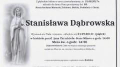 Zmarła Stanisława Dąbrowska. Żyła 84 lat.