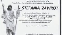 Zmarła Stefania Zawrot. Żyła 96 lat