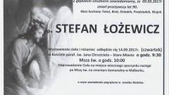 Zmarł Stefan Łożewicz. Żył 90 lat.
