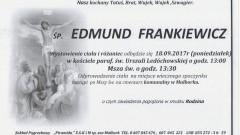 Zmarł Edmund Frankiewicz. Żył 69 lat