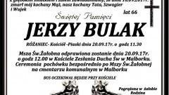 Zmarł Jerzy Bulak. Żył 66 lat