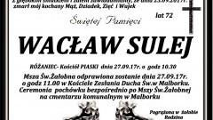 Zmarł Wacław Sulej. Żył 72 lat.