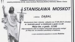 Zmarła Stanisława Moskot. Żyła 66 lat.