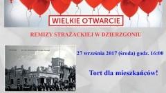 Remiza wyremontowana. Burmistrz Dzierzgonia zaprasza na wielkie otwarcie – 27.09.2017