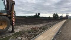 Gmina Sztum: Trwa budowa chodnika w Barlewicach – 26.09.2017