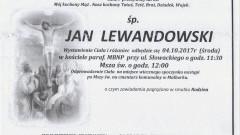 Zmarł Jan Lewandowski. Żył 82 lata.