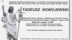 Zmarł Tadeusz Nowojewski. Żył 62 lat.