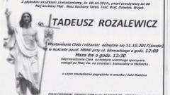Zmarł Tadeusz Rozalewicz. Żył 80 lat