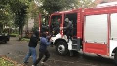 Wspólne ćwiczenia Policji oraz sztumskiego Zakładu Karnego wraz ze Strażą Pożarną - 11.10.2017