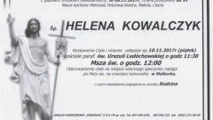 Zmarła Helena Kowalczyk. Żyła 91 lat.