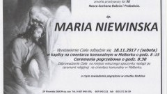 Zmarła Maria Niewinska. Żyła 98 lat