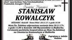 Zmarł Stanisław Kowalczyk. Żył 71 lat