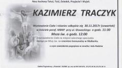 Zmarł Kazimierz Traczyk. Żył 69 lat.