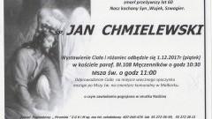 Zmarł Jan Chmielewski. Żył 60 lat.
