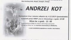 Zmarł Andrzej Kot. Żył 63 lat.