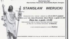 Zmarł Stanisław Wierucki. Żył 77 lat.