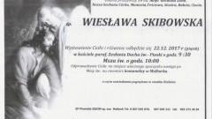 Zmarła Wiesława Skibowska. Żyła 59 lat