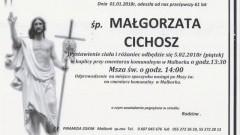 Zmarła Małgorzata Cichosz. Żyła 61 lat.