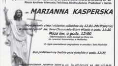 Zmarła Marianna Kasperska. Żyła 87 lat